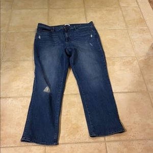 Brand new high-rise straight jeans